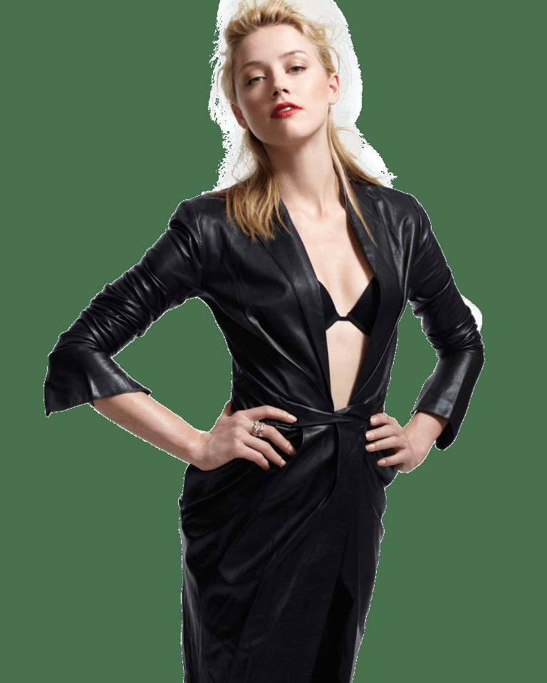 Кожаные платья: стильные образы